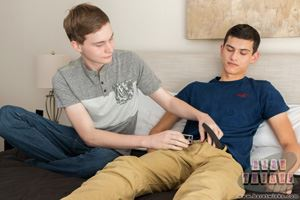 Young and sexy bare twinks Bryce Christiansen and Justin Cross 14