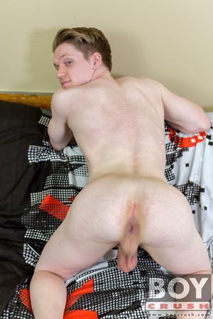 Taylor Tyce tells us a lot about himself before sharing his tight hole and getting splashed with cum! 7