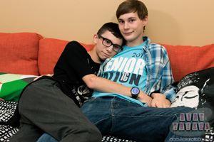 Young gay boys Bryce Christiansen and Cameron Hilander make an adorable teen twink couple. 12