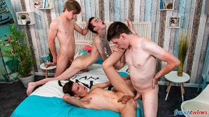 Justin Leroy, Lucas Bouvier, Ethan Duval and Mael Dumas 9
