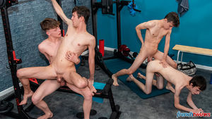 Alex Faux, Jules Laroche, Mael Dumas and Paul Delay 13