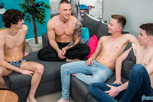 Truth or Dare at French Twinks - Gabriel Lambert, Paul Delay, Chris Loan and Enzo Lemercier