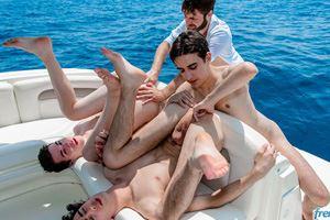 Doryann Marguet, Paul Delay, Jules Laroche and Gabriel Lambert 1