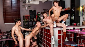 Chris Loan, Corentin Tessier, Paul Delay, Jules Laroche and Gabriel Lambert 14