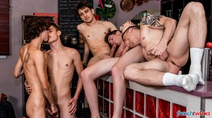 Chris Loan, Corentin Tessier, Paul Delay, Jules Laroche and Gabriel Lambert 32