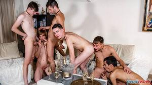 Ethan Duval, Doryann Marguet, Lucas Bouvier, Alexis Tivoli, Enzo Lemercier and Justin Leroy 4