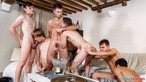 Ethan Duval, Doryann Marguet, Lucas Bouvier, Alexis Tivoli, Enzo Lemercier and Justin Leroy 10