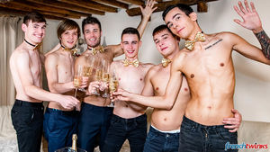 Ethan Duval, Doryann Marguet, Lucas Bouvier, Alexis Tivoli, Enzo Lemercier and Justin Leroy 12