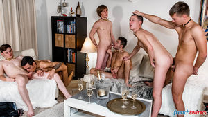 Ethan Duval, Doryann Marguet, Lucas Bouvier, Alexis Tivoli, Enzo Lemercier and Justin Leroy 14