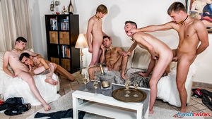 Ethan Duval, Doryann Marguet, Lucas Bouvier, Alexis Tivoli, Enzo Lemercier and Justin Leroy 15