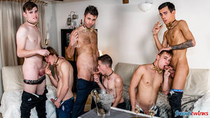 Ethan Duval, Doryann Marguet, Lucas Bouvier, Alexis Tivoli, Enzo Lemercier and Justin Leroy 36