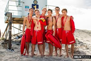 Helix Boys Max Carter, Kyle Ross, Tyler Hill, Evan Parker,  Blake Mitchell, Noah White, Sean Ford and Joey Mills 13