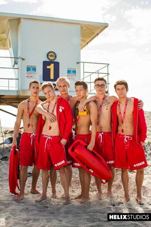 Helix Boys Max Carter, Kyle Ross, Tyler Hill, Blake Mitchell, Noah White, Sean Ford and Joey Mills 14