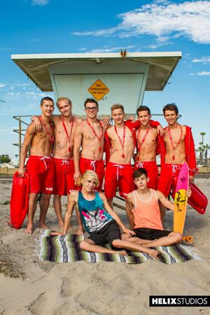 Helix Boys Max Carter, Kyle Ross, Tyler Hill, Blake Mitchell, Noah White, Sean Ford and Joey Mills 22