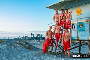 Helix Boys Max Carter, Kyle Ross, Tyler Hill, Blake Mitchell, Noah White, Sean Ford and Joey Mills 69