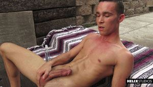Sexy boy Chandler Mason is horny as hell. Ever the exhibitionist, he brings beautiful blonde Max Carter along to film it and also to help him out here and there. 15