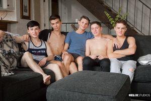 Jacob Hansen, Brian Gibson, Garrett Kinsley, Jace Myers and Devin Holt 11