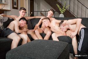 Jacob Hansen, Brian Gibson, Garrett Kinsley, Jace Myers and Devin Holt 13