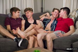 Dawson Grant, Austin Lovett, Devin Holt and Levi Rhodes 5