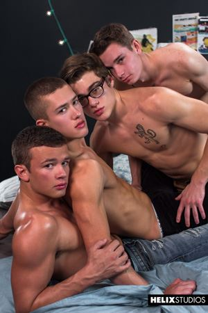 Blake Mitchell, Logan Cross, Colton James and Sean Ford 45