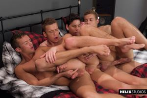 Logan Cross, Brad Chase, Aiden Garcia and Corbin Colby 9