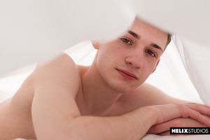 Sexy twink Danny Nelson wakes up with the contents of his red hot jockstrap pointing north and needing a raunchy release. 15