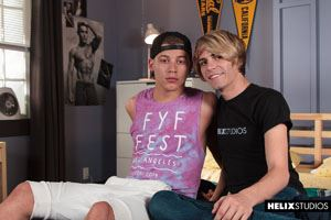 Blond and beautiful super star Kyle Ross relaxes with Corbin Colby 12