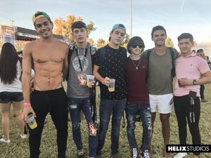 Joey Mills, Cole Claire, Cameron Parks and Ashton Summers at Vegas Pride 12