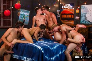 Max Carter, Kyle Ross, Evan Parker, Tyler Hill, Blake Mitchell and Joey Mills 49