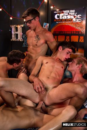 Max Carter, Kyle Ross, Evan Parker, Tyler Hill, Blake Mitchell and Joey Mills 82
