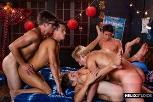 Max Carter, Kyle Ross, Evan Parker, Tyler Hill, Blake Mitchell and Joey Mills 91
