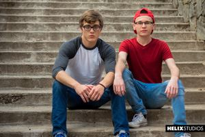Helix boys Blake Mitchell and Oliver Nash 12