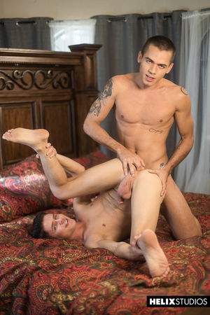 Sexy guys Ashton Summers and Dylan Hayes answering every raunchy request and question with cock sure comfortably 4
