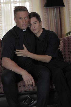 Older Priest Brutally Buggers Hairless Sexy Twink To Heaven and Back 12