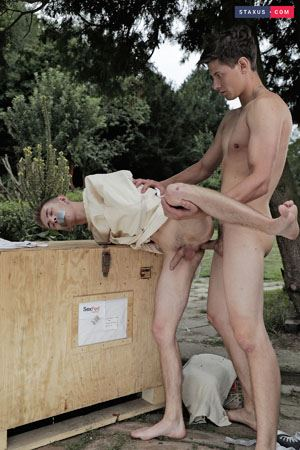 Cute twink gets served up for a brutal ass-splitting fuck-fest 3